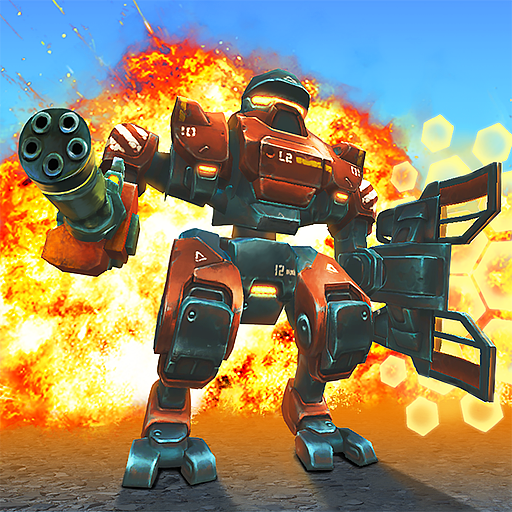 Tanks VS Robots: Online shooting battle action game