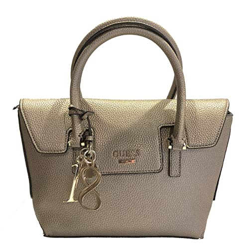 dae47e9d5807 GUESS WEST SIDE SMALL FLAP SATCHEL PEW PEWTER: Amazon.co.uk: Clothing