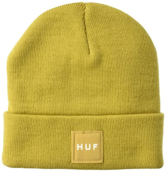 b9b3c67065eb Amazon.com: HUF Men's Box Logo Beanie, Honey Mustard O/S: Clothing
