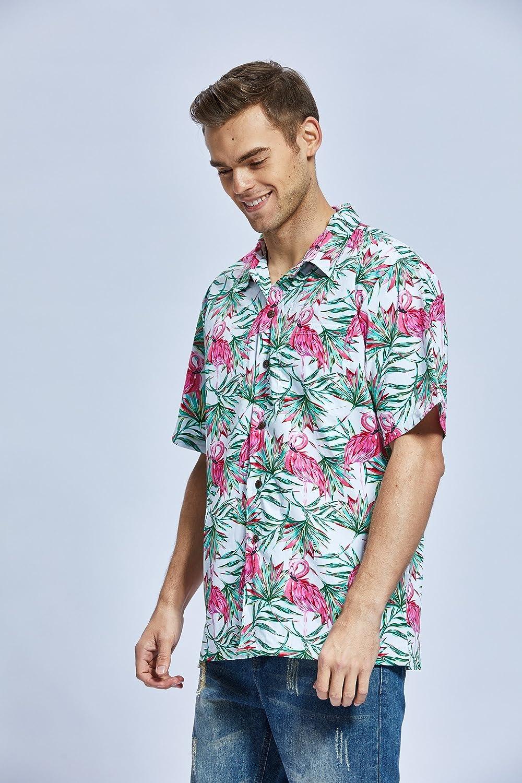 Hawaii Hangover Mens Hawaiian Shirt Aloha Shirt Christmas Shirt Flamingo in Love