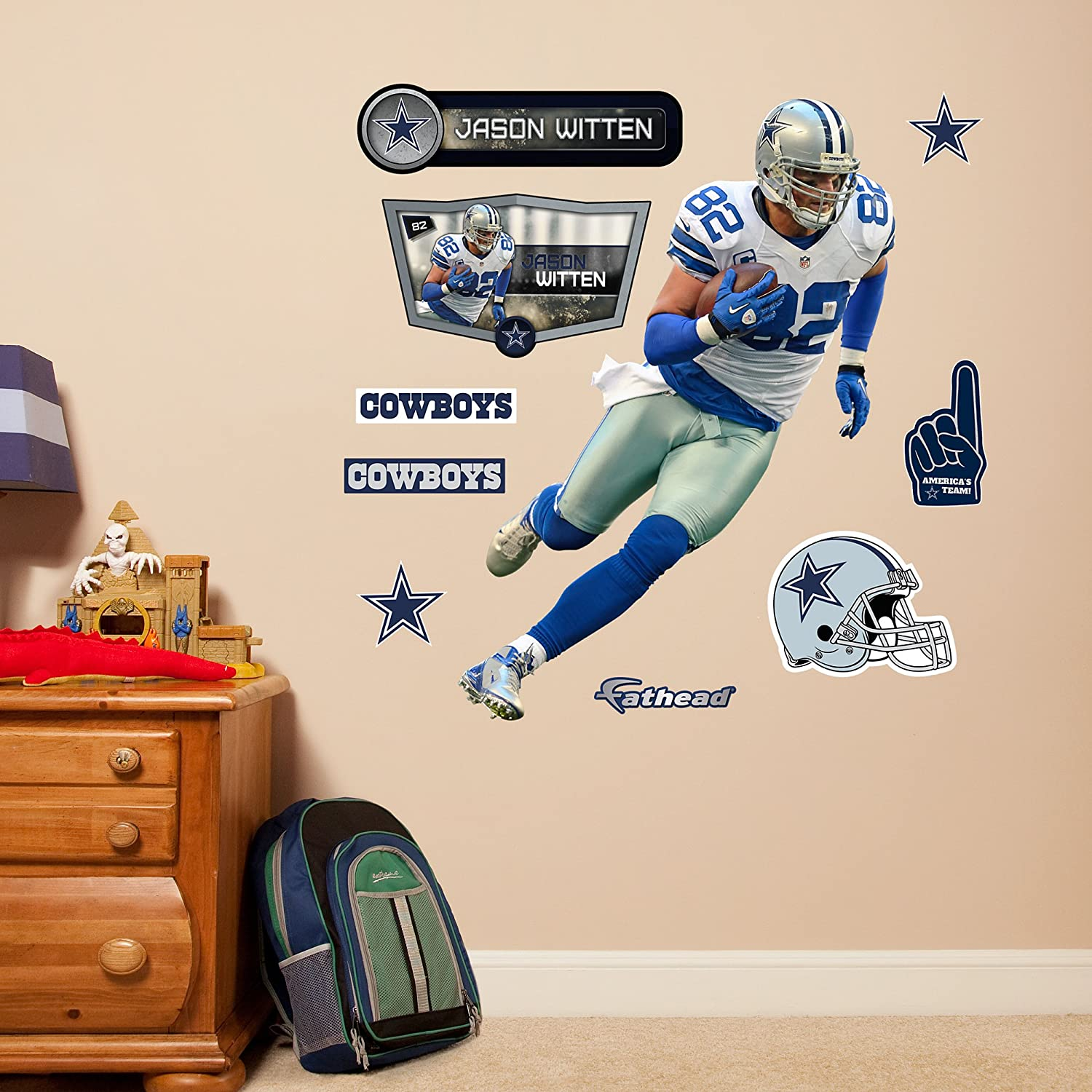 Amazon.com : NFL Dallas Cowboys Jason Witten Fathead Wall Decal, Junior :  Sports & Outdoors
