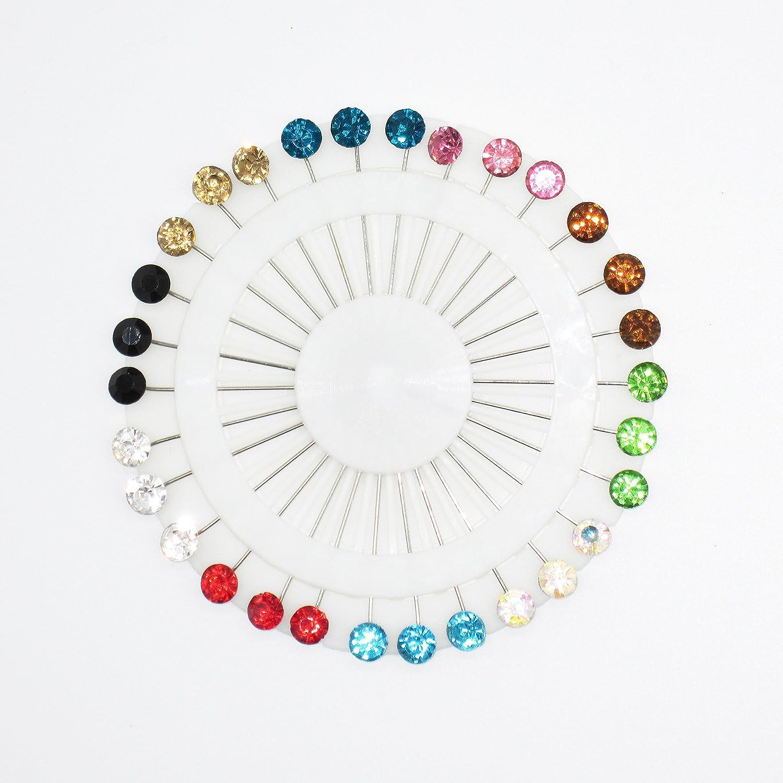 Ruiuzi Hijab musulman broches /épingle foulard clip boule de cristal broche /épingle de mariage pour les femmes