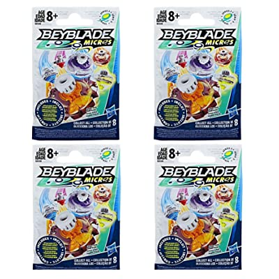 Beyblade Micros Series 3 Blind Bag Pack of 4: Toys & Games