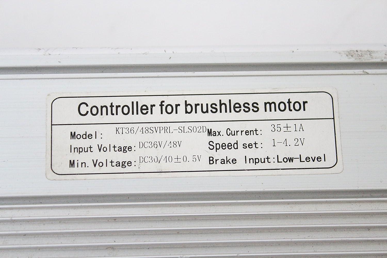Silver 48V 1500W 35A Brushless DC Sine Wave Controller 36V 1000W ebike controller Regenerative Braking