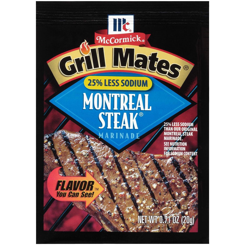 McCormick Grill Mates Low Salt Steak Marinade, .71 oz