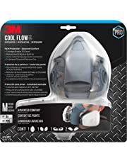 3M Pro Half Facepiece Reusable Respirator All-in-One Kit, Paint Protection - Advanced Comfort, M (1 Mask, 1-pair Cartridges, 2-pair Filters and 1-pair Retainers)