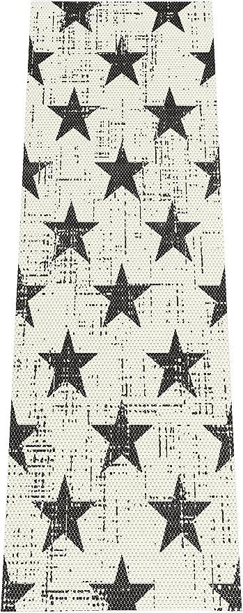 F S Stars Etoiles 80 X 200 Cm Blanc Et Noir Tapis De