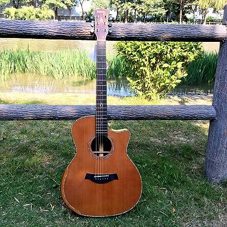 GFEI Superficie inferior de alta calidad chapa _ pino guitarra folk mano Guitarra / chicos y
