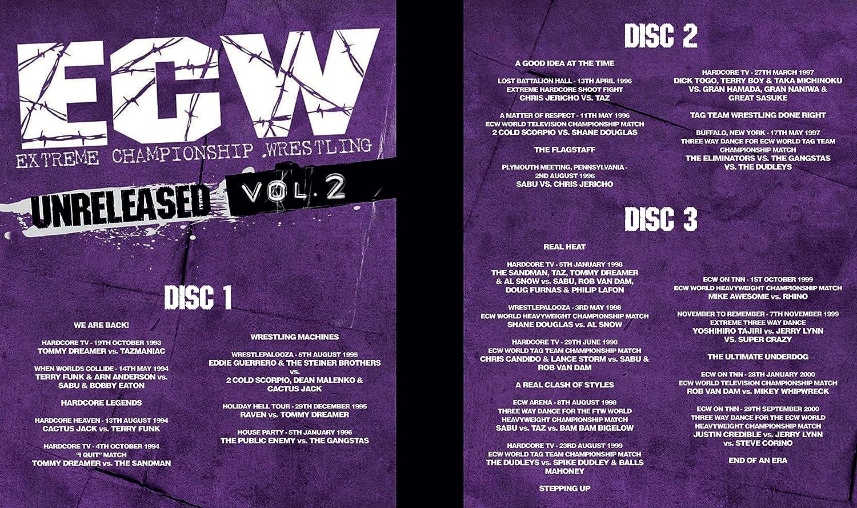 WWE: ECW - Unreleased Vol  2 [DVD]: Amazon co uk: Rob Van