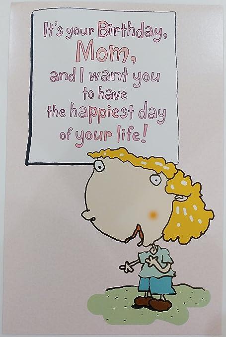 Valentine Card Design Funny Happy Birthday Card For Mom