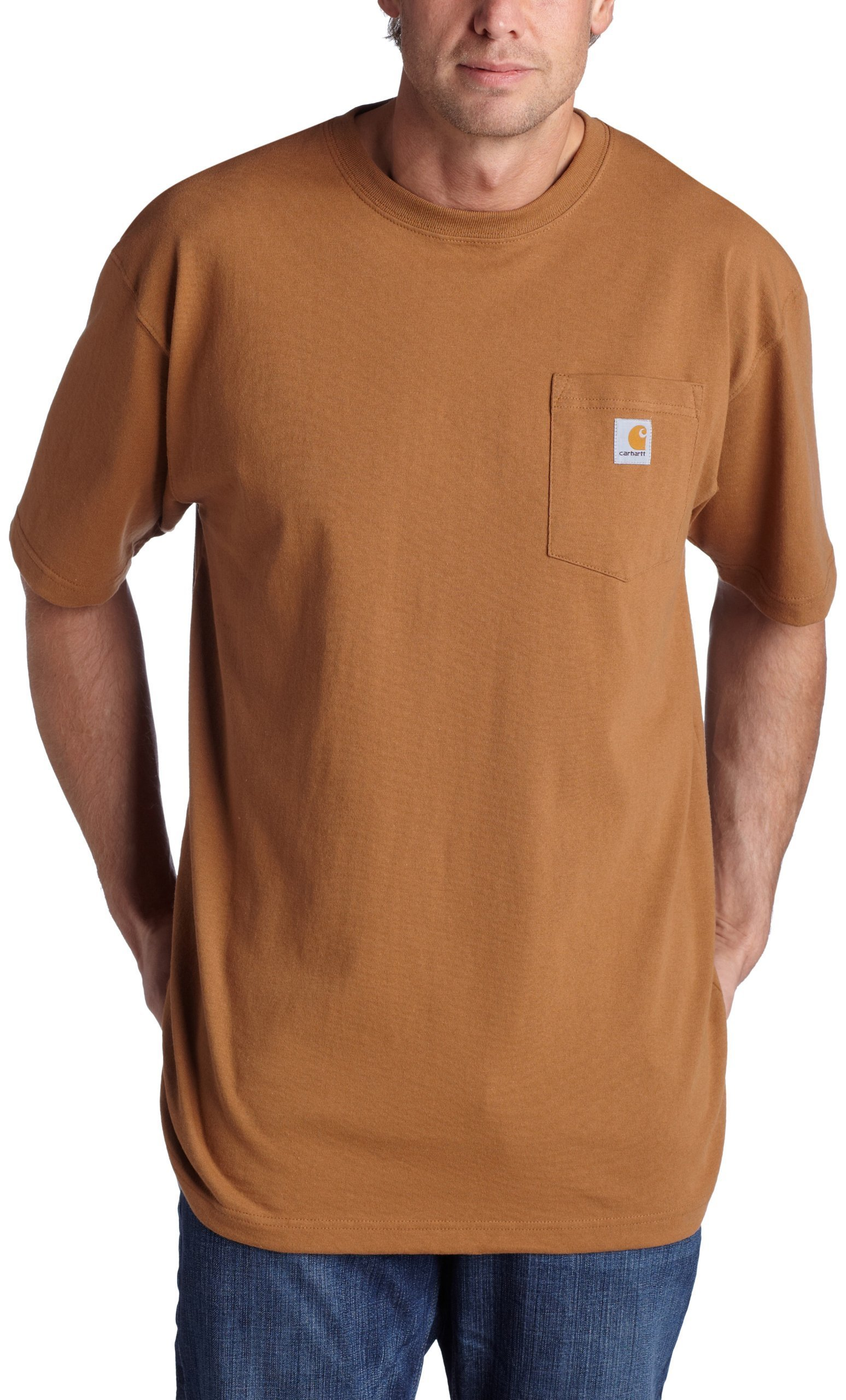 Carhartt Men's K87 Workwear Pocket Short-Sleeve T-Shirt, Brown, X-Large