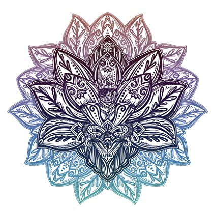 Amazoncom Purple Green Ombre Tribal Pattern Lotus Flower Icon