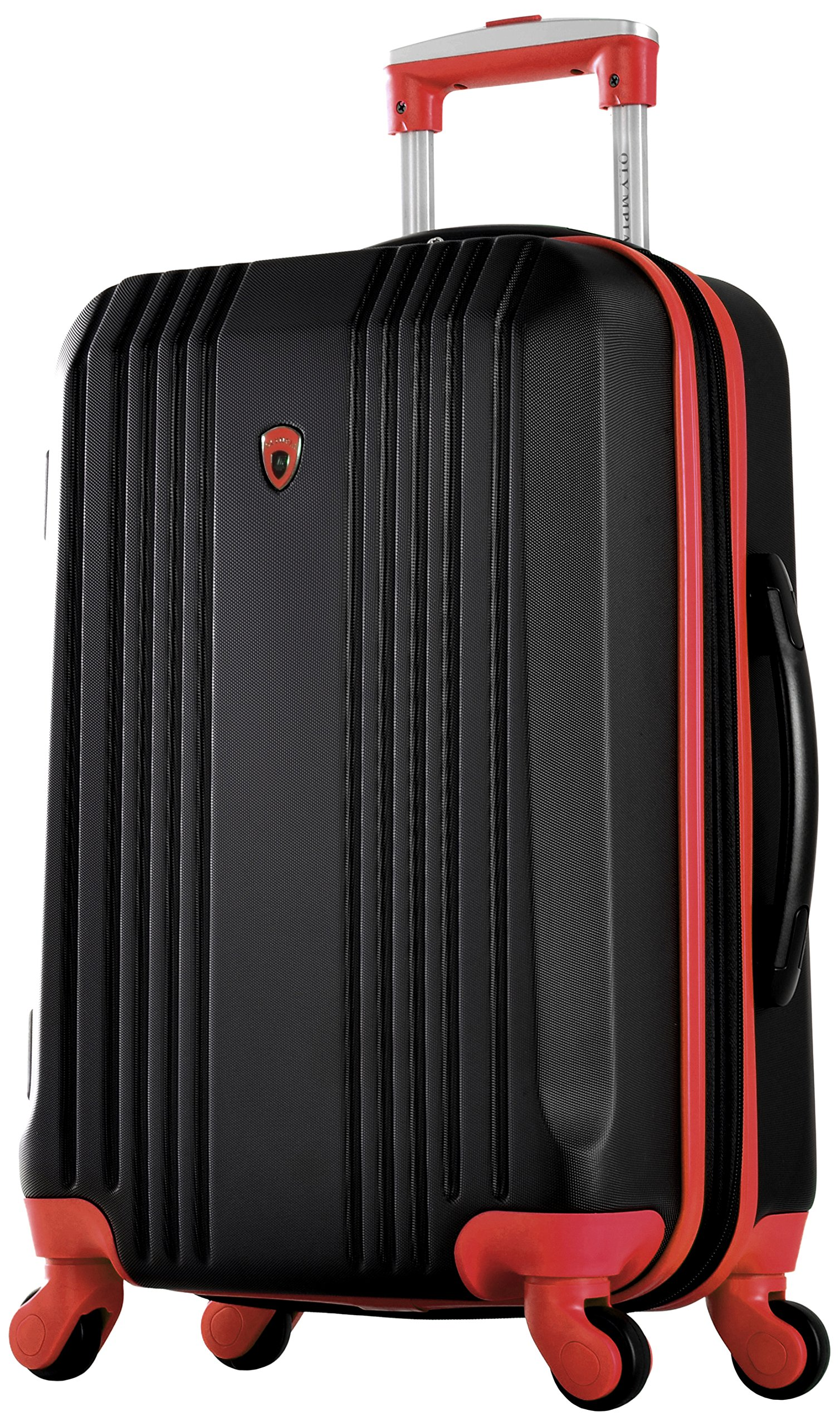 Olympia Apache Ii 21'' Carry-on Spinner, BLACK+RED