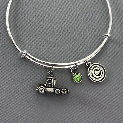 Amazon.com: Truck Driver Gifts - Trucking - Truckers Wife - Semi Truck - Charm Bracelet - Personalized Jewelry - Gift for Her - Truck Driver - Trucker: ...