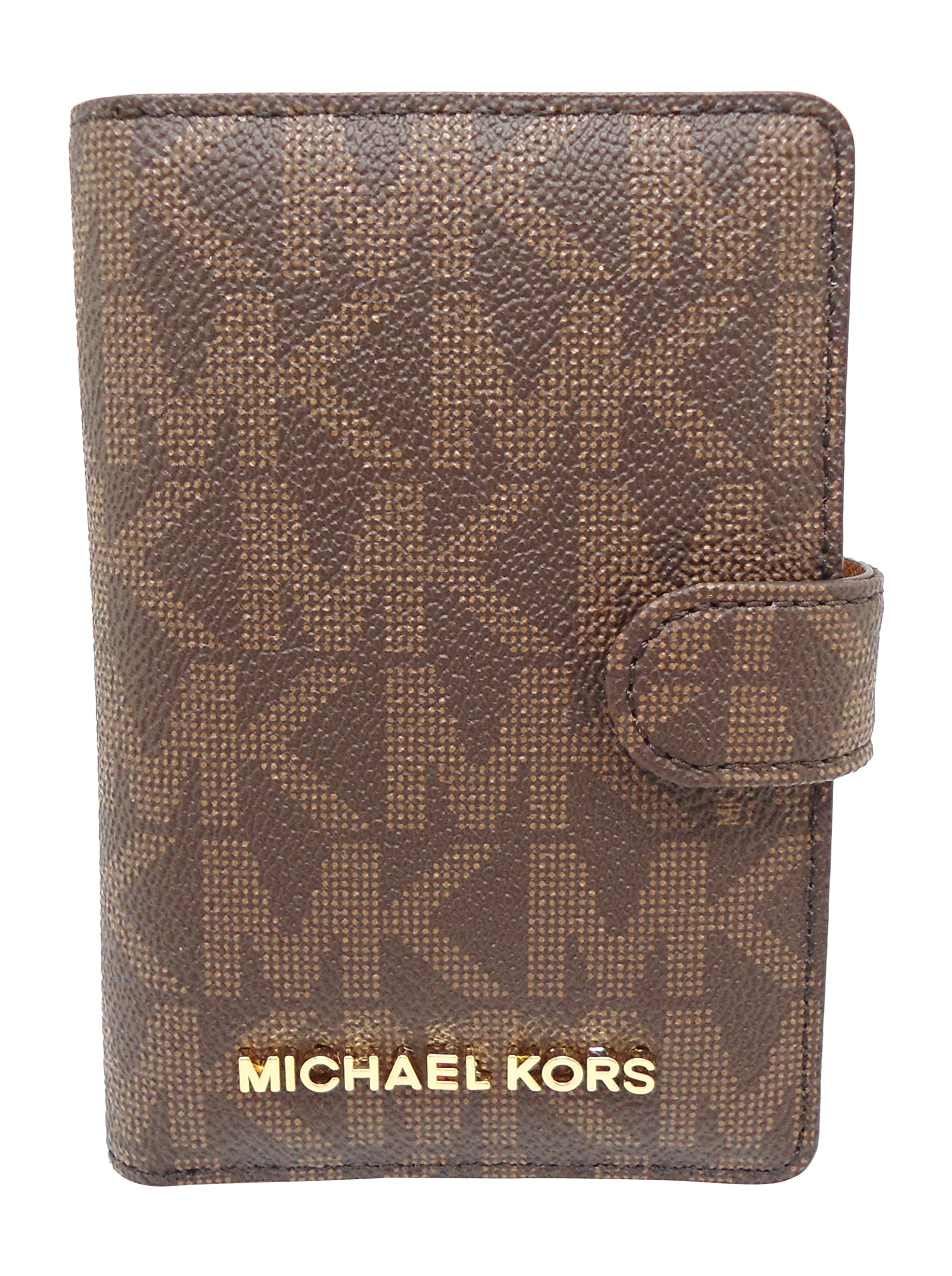 Michael Kors Jet Set Travel Passport Case Wallet Brown/Acorn 0089 by Michael Kors