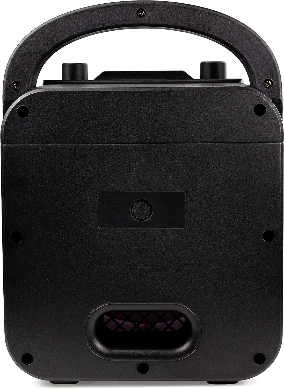 Negro altavoz de 10 vatios y dos micr/ófonos RockJam La m/áquina de karaoke RockJam Party con Bluetooth
