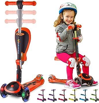 Amazon.com: Patinete S Skidee para niños con asiento ...