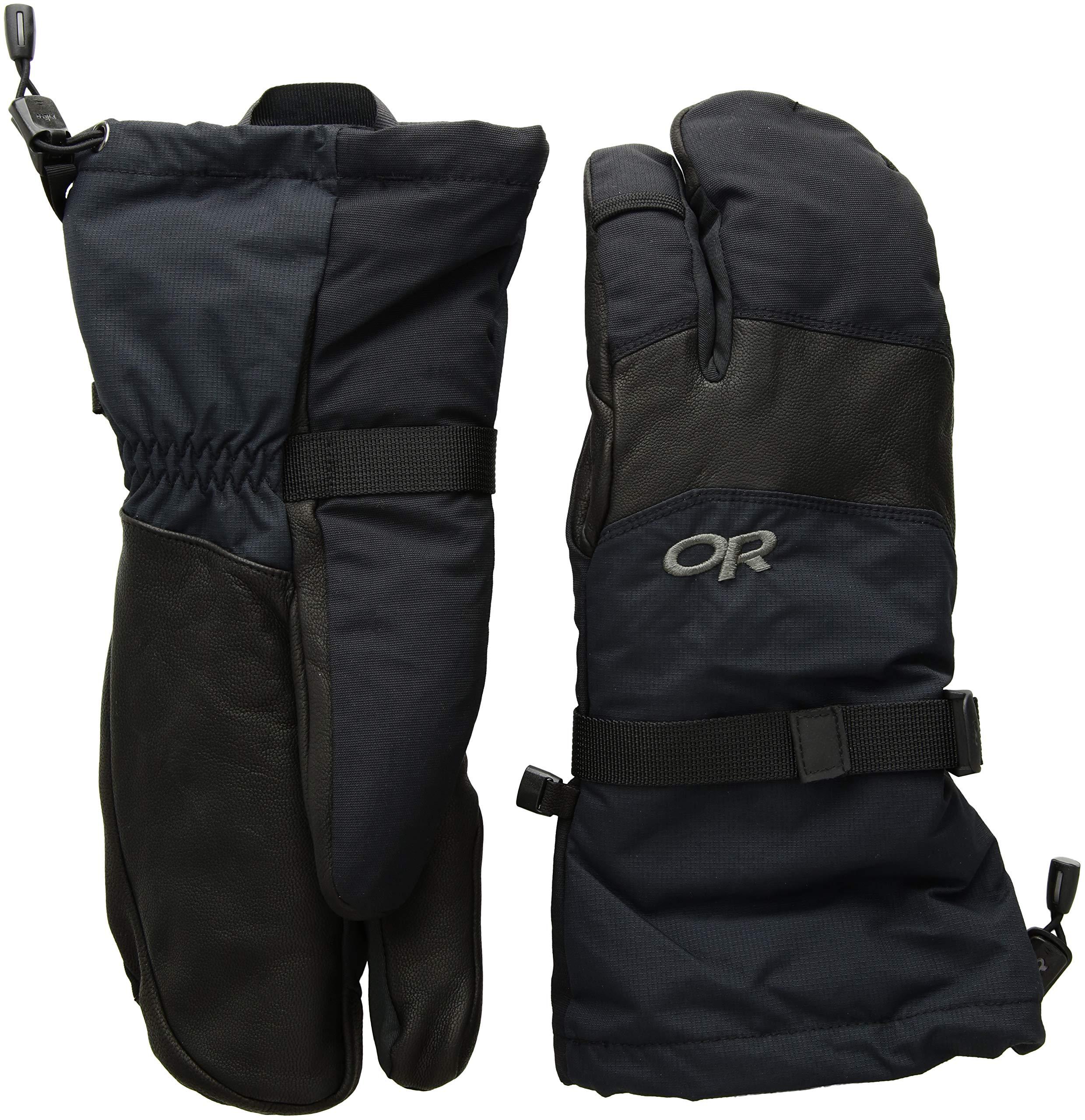 Outdoor Research Men's Highcamp 3-Finger Gloves, Black, X-Large