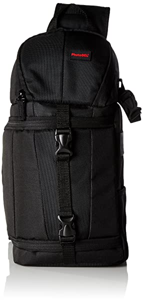 PhotoSEL BG411 Sling Bag With Rain Cover For DSLR Cameras And Accessories