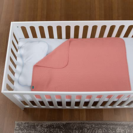 Urban Kanga Manta Bebé de Algodón Mantita Transpirable Recién nacidos 100 × 70 cm (Rosa)