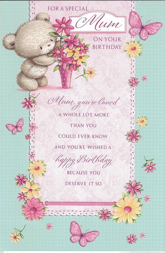 Madre Tarjeta de cumpleaños ~ cumpleaños deseos A un muy ...