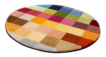 Kleine Wolke Cubetto Badteppich, Polyacryl, Mehrfarbig, 90 x 90 cm