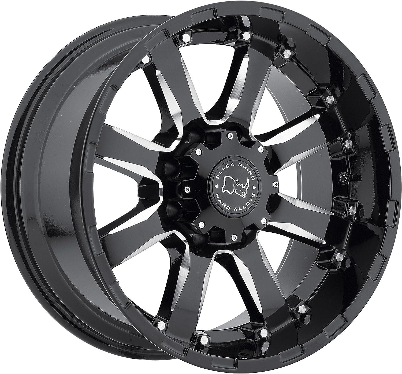 BLACK RHINO SIERRA 18x9.0 6//139.7 ET12 CB112.1 GLOSS BLACK W//MILLED SPOKES