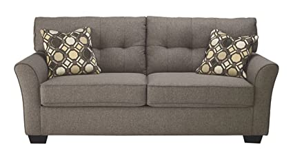 Ashley Furniture Signature Design   Tibbee Full Sofa Sleeper   Sleek  Tailored Couch With Pull Out
