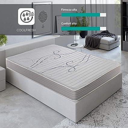 ROYAL SLEEP Colchón viscoelástico 90x200 de máxima Calidad, Confort y firmeza Alta, Altura 14cm