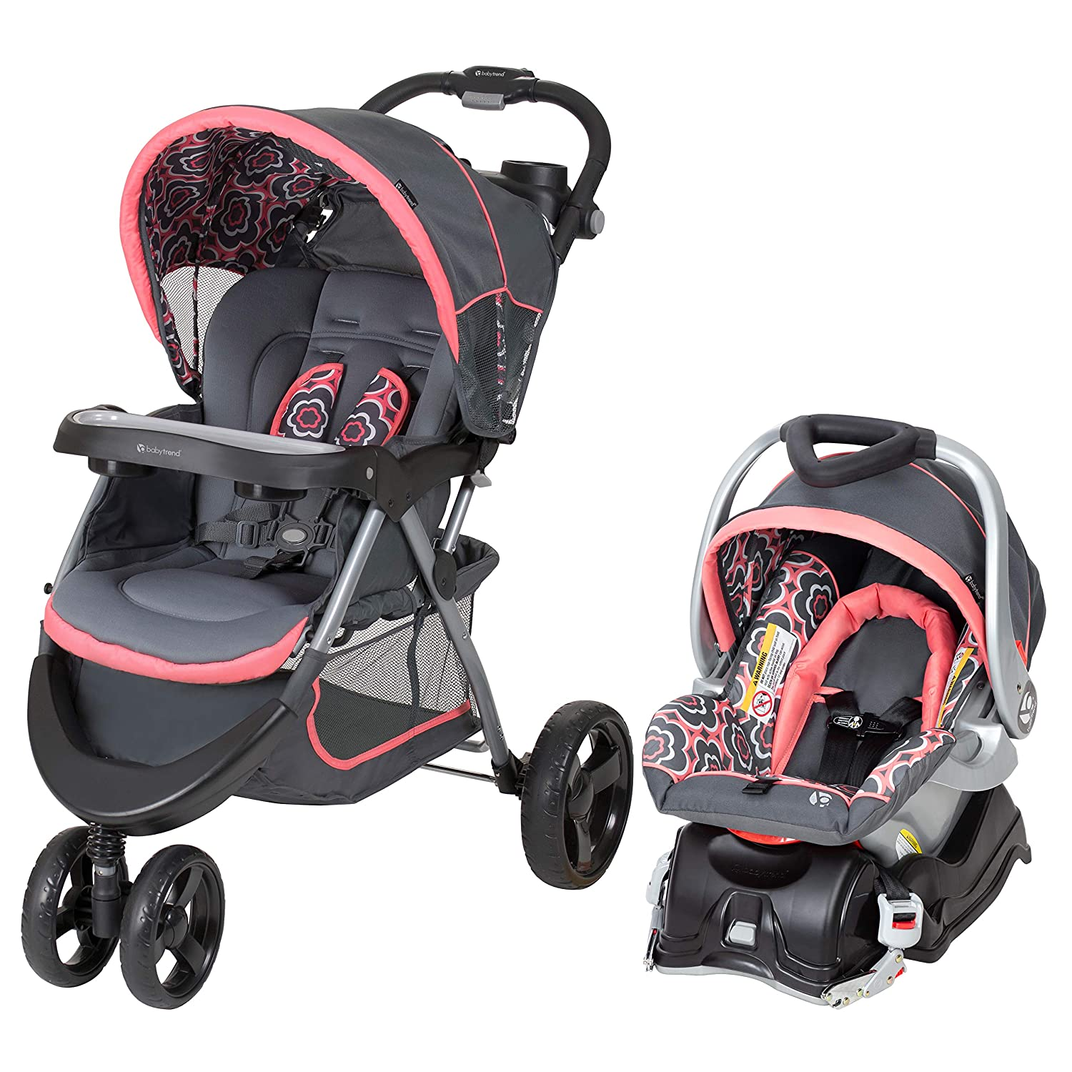 Amazon Com Baby Trend Nexton Travel System Coral Floral Baby