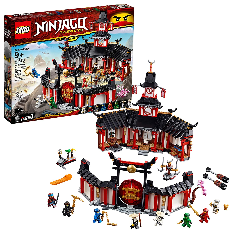 Lego Ninjago Legacy Monastery Of Spinjitzu 70670 Building Kit 1070