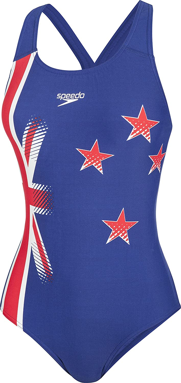 Speedo New Zealand PLMT PBCK AF Costume Intero da Donna