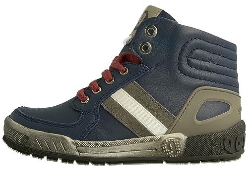 Garvalin 161751B - botas de caña baja con forro cálido y botines Niños, Azul -