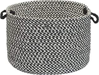 product image for Colonial Mills Indoor/Outdoor Houndstooth Storage Basket, Black
