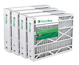 FilterBuy 24.5x27x5 Trane American Standard BAYFTFR24M FLR06071Compatible Pleated AC Furnace Air Filters (MERV 8, AFB Silver). 4 Pack.