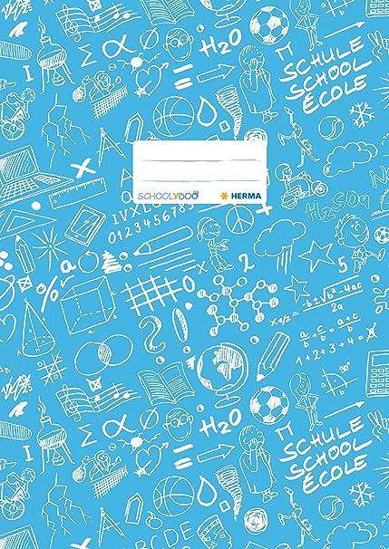 Format A4 En plastique 1/pi/èce 4 gemustert Prot/ège-cahier /«/Schoolydoo//» de Herma /À motifs 1 St/ück marron