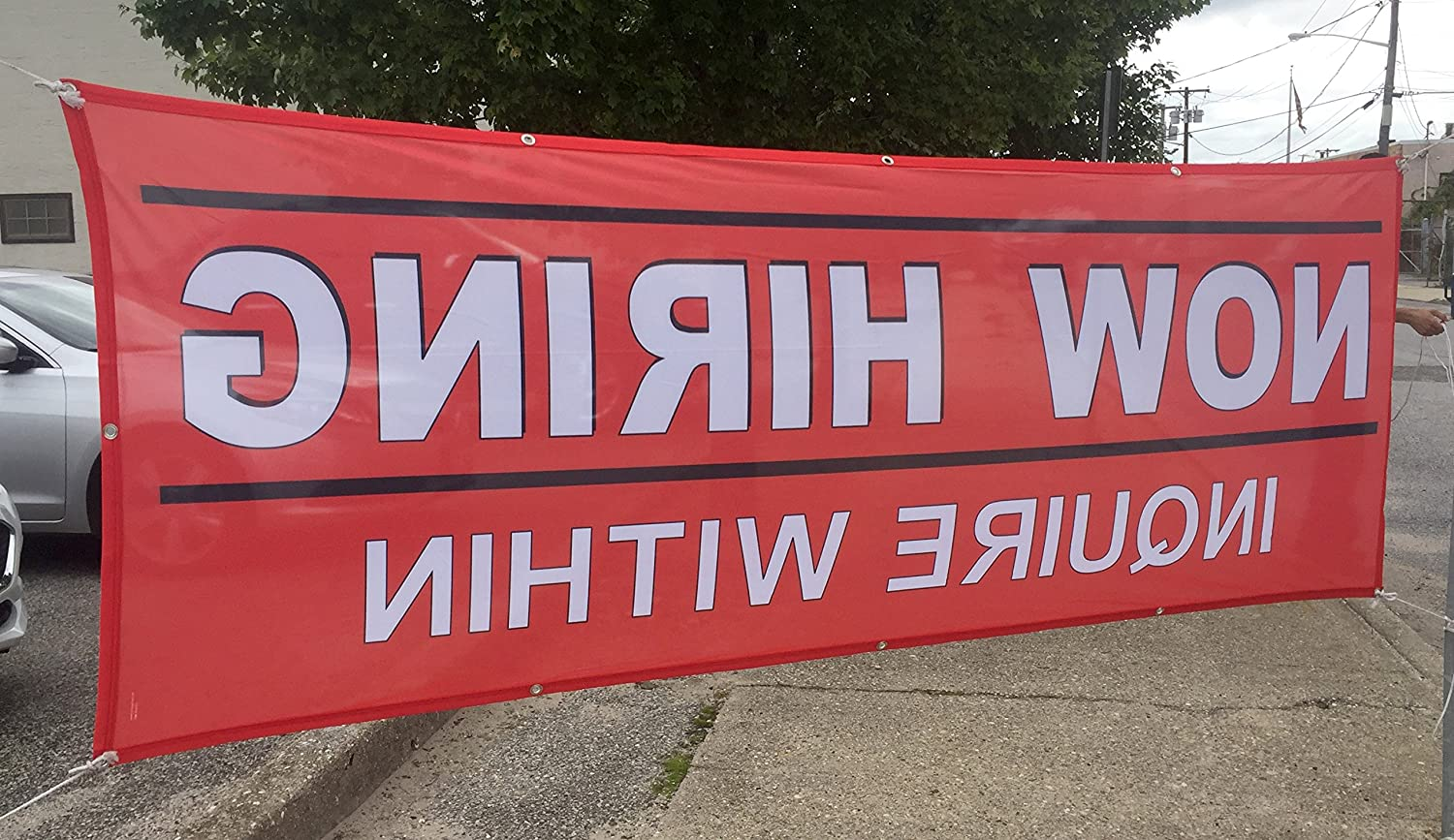 36 x 96 Mitsubishi Fabric Mesh Banner With Grommets