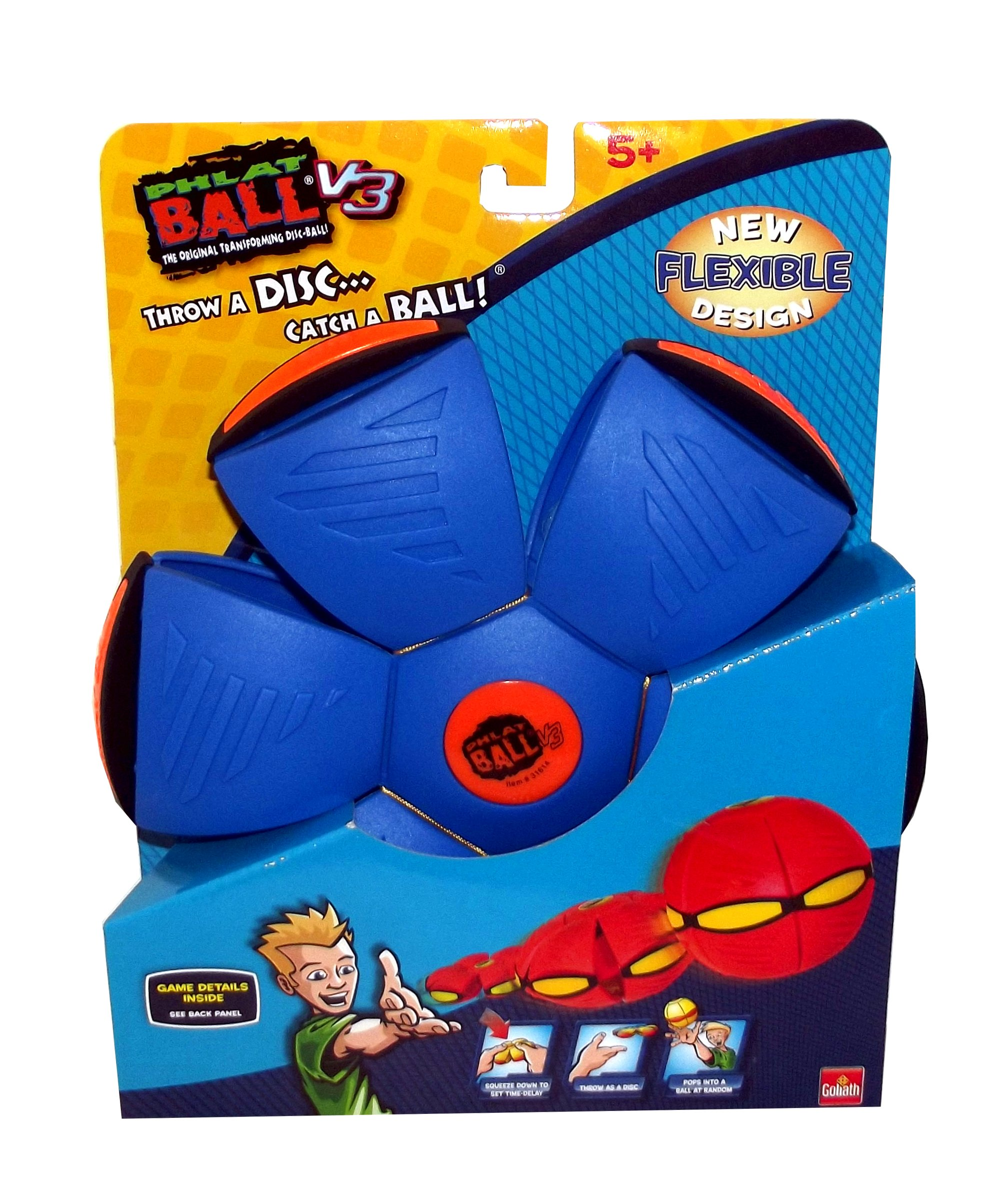 Goliath Games Phlat Ball V3, Blue by Goliath Games