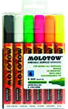 Molotow ONE4ALL Acrylic Paint Marker Set, 6 Neon Colors, 4mm (200.166)