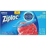 Ziploc Freezer Bags with Double Zipper Seal with Easy Open Tabs - Medium - 38 Count