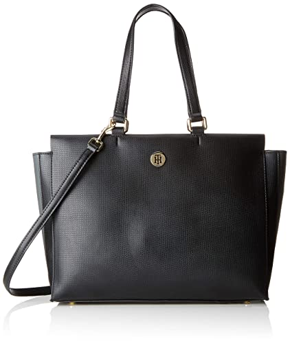 d26652e992 Tommy Hilfiger Effortless Saffiano Ew Tote, Women's Black, 13x27x34 cm (B x  H T