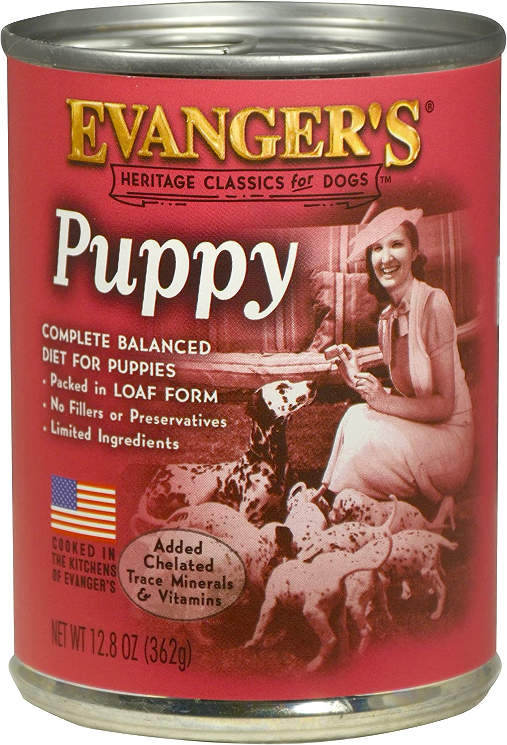 Evanger's Heritage Classic Puppy and Underweight Dogs Recipe, 12 x 12.8 oz cans