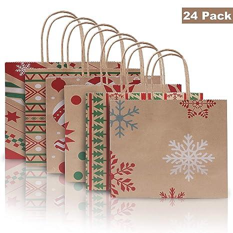 BELLE VOUS Bolsas Papel Navidad (Pack de 24) Bolsa de Papel ...