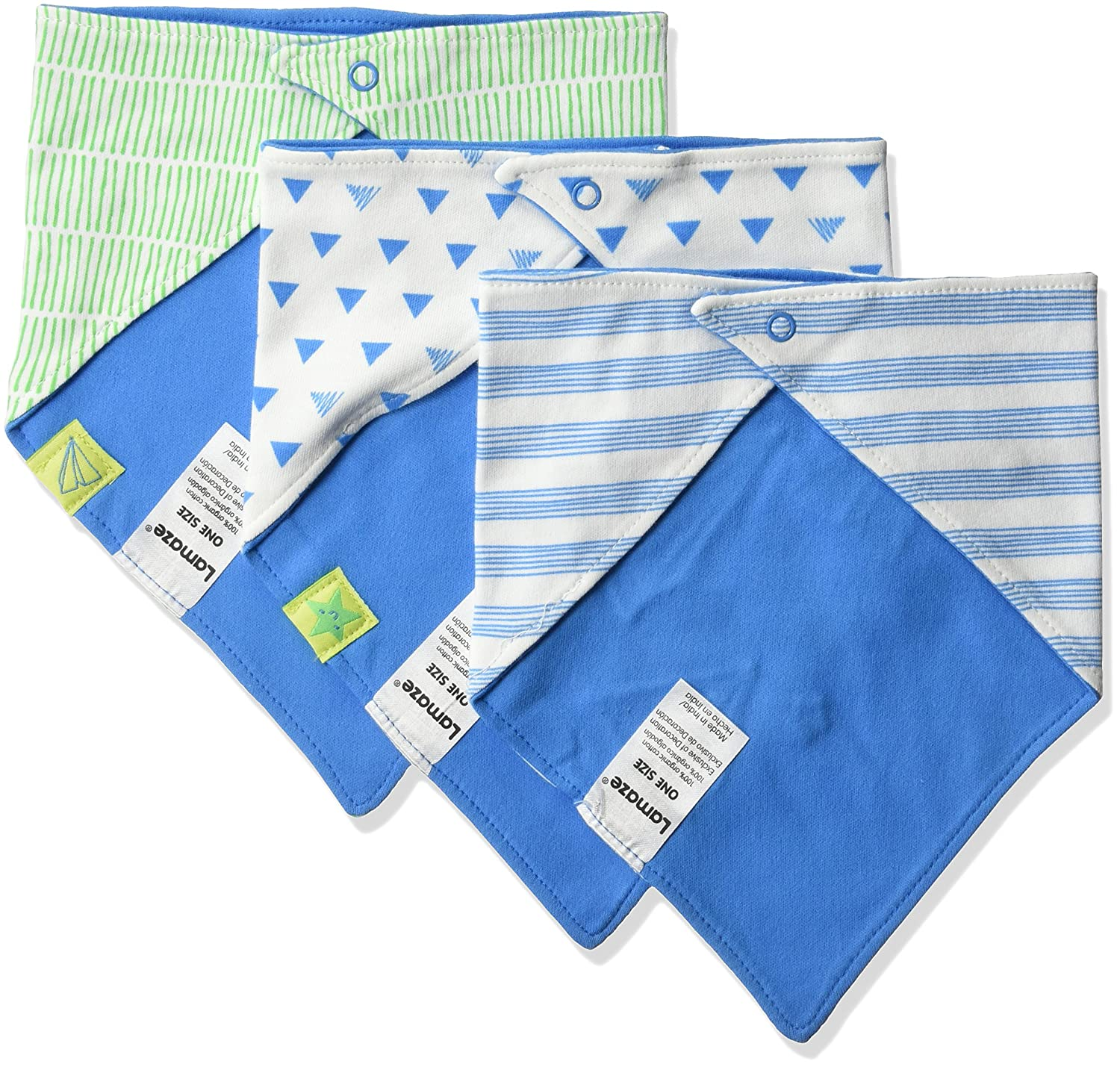 Lamaze unisex-baby Baby Organic Essentials 3 Piece Bib Set blue One Size Lamaze Baby Apparel LA5106018O17 Clothing & Accessories