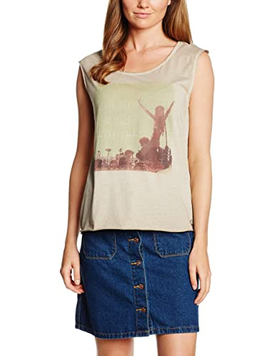 TOM TAILOR Denim Damen Top Loose Fitted Print Shirt