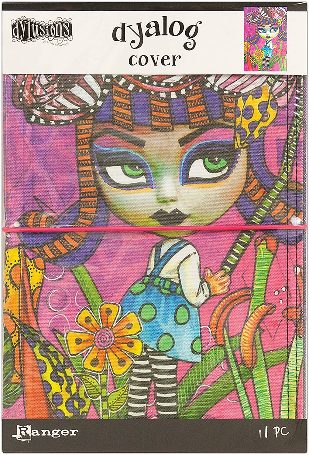 Dyan Reaveley's Dylusions Dyalog Canvas Cover -Believe