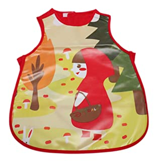 Baby Toddler Kids Long Sleeve Waterproof Feeding Art Apron Bib Boys Girls FI
