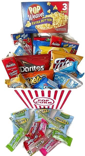 Amazoncom Best Movie Night Popcorn Snacks Gift Basket Popcorn