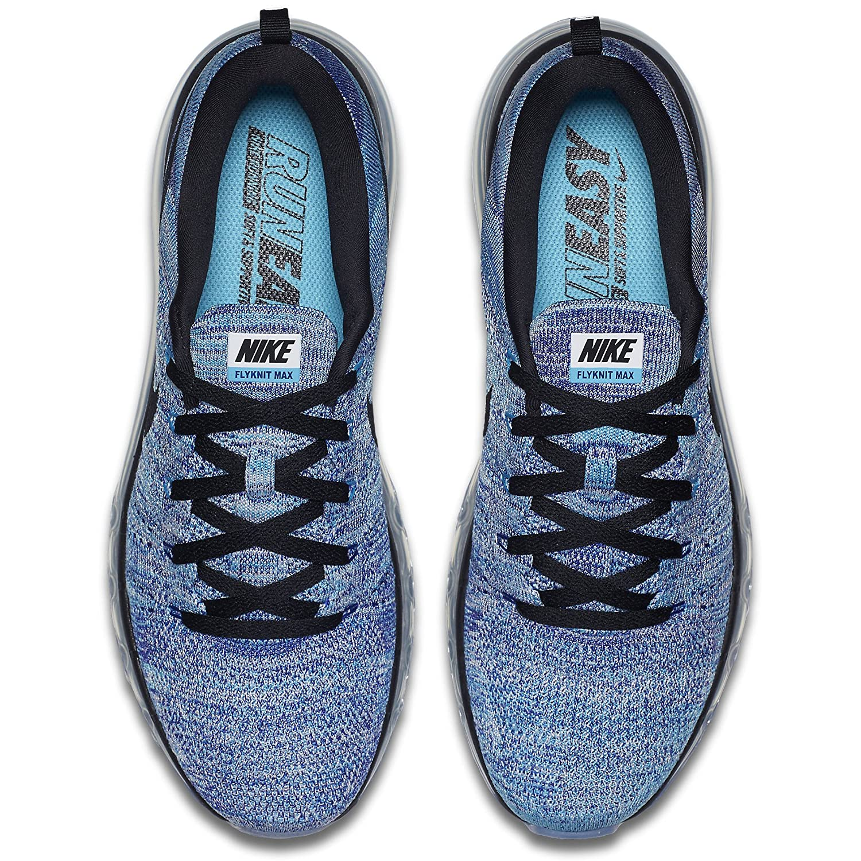 e4156803b4 Flyknit Air Max Black Grey Amazon.com | Nike Men's Flyknit Max, WHITE/BLACK-CHOLRINE  BLUE- Chaussure de running ...