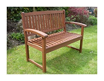 Admirable Henley Hardwood 2 Seat Garden Bench Great Outdoor Furniture For Your Garden Or Patio Download Free Architecture Designs Fluibritishbridgeorg